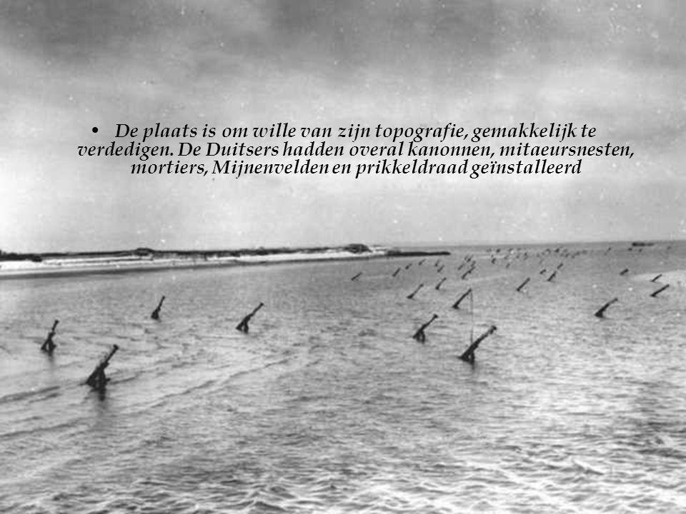 • Als er een plaats is waar de landing bijna misxlukt was is dit wel degelijk het strand van Omaha Beach.