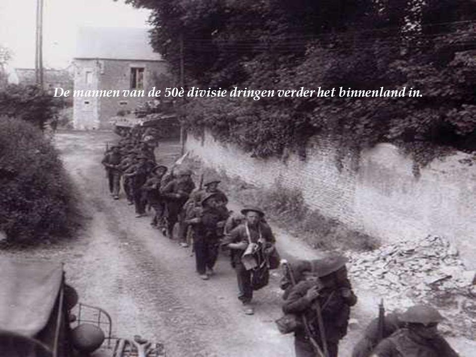 De vijandelijke weerstand concentreert zich op de twee flanken van de sector, in 't bijzonder in Asnelles.