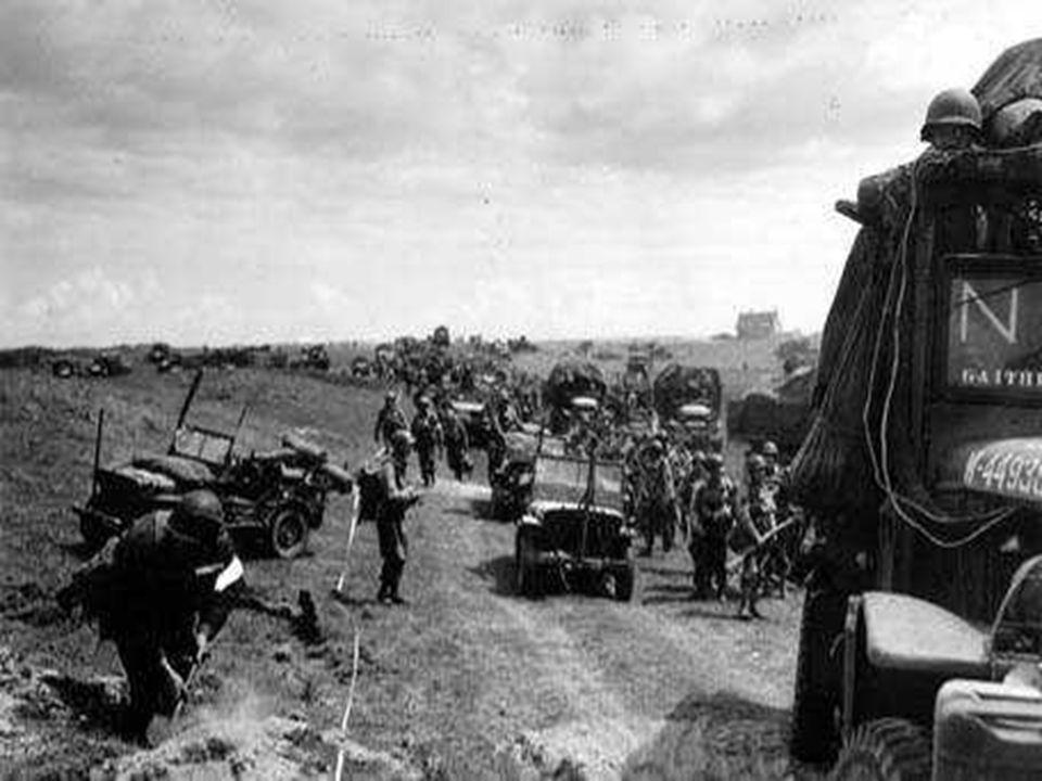 De mannen van de 50è divisie dringen verder het binnenland in.