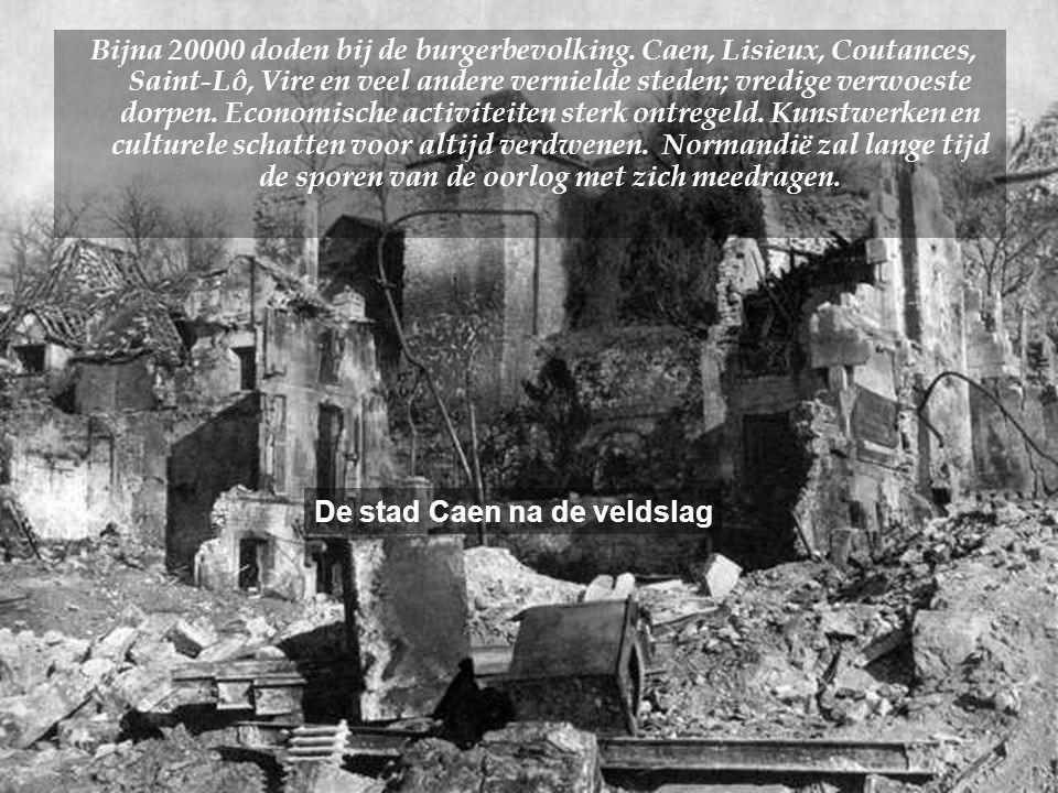 •Volgens de vooruitzichten in de Overlord operatie, zou de bevrijding van Normandië moeten voltooid zijn in drie weken.