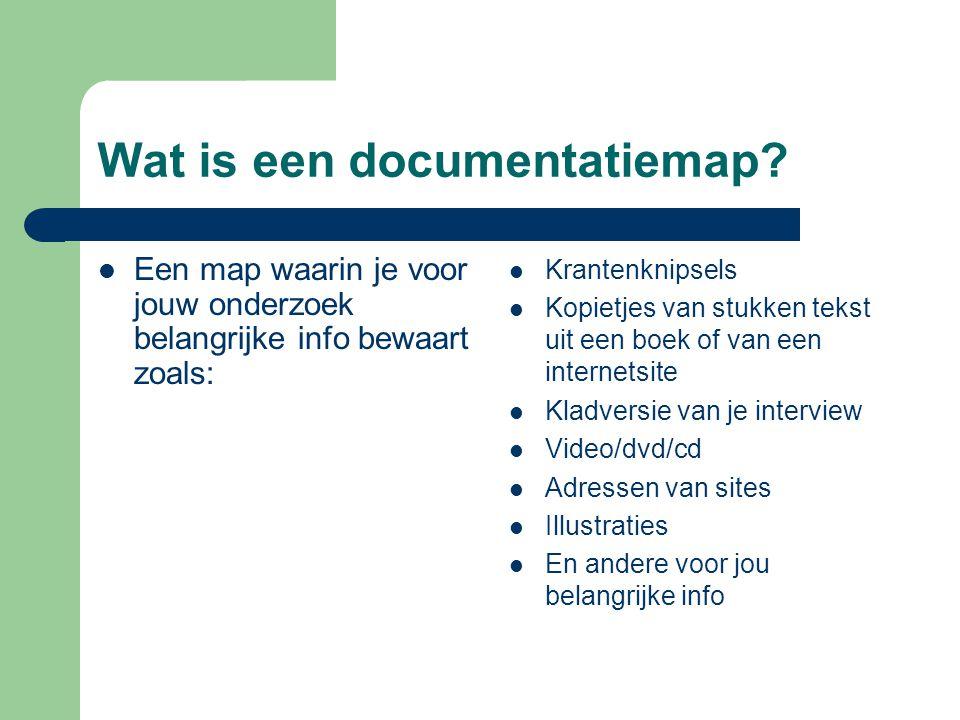 Wat is een documentatiemap.