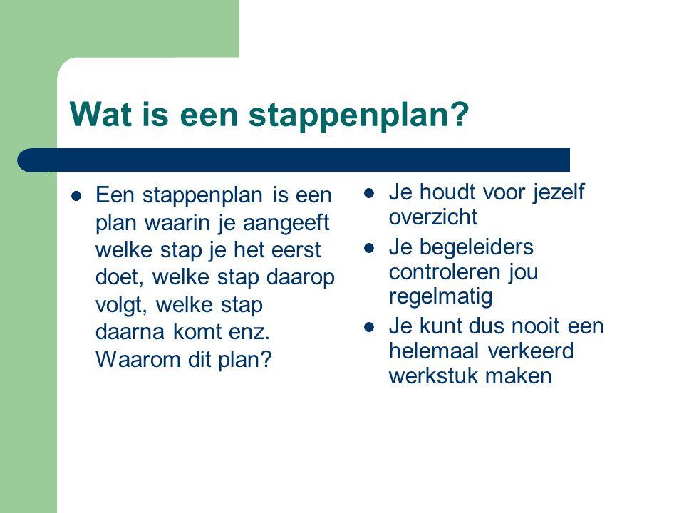 Wat is een stappenplan.
