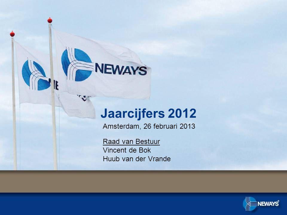 Jaarcijfers 2012 Amsterdam, 26 februari 2013 Raad van Bestuur Vincent de Bok Huub van der Vrande