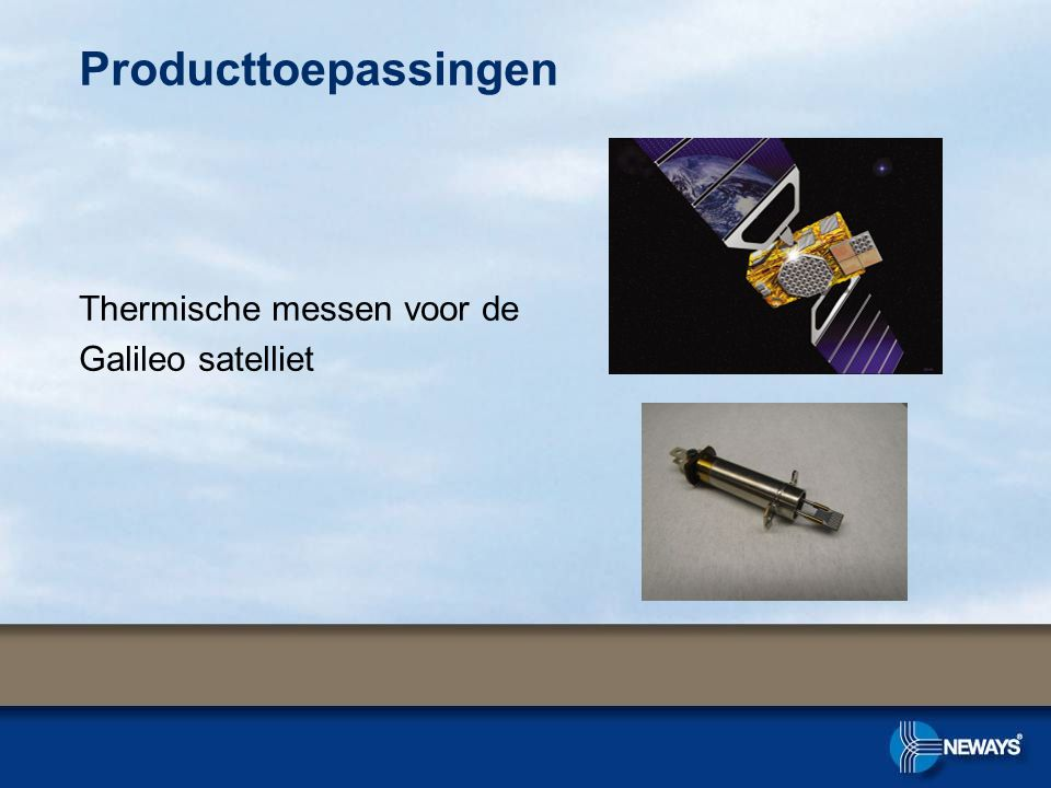 Producttoepassingen Thermische messen voor de Galileo satelliet
