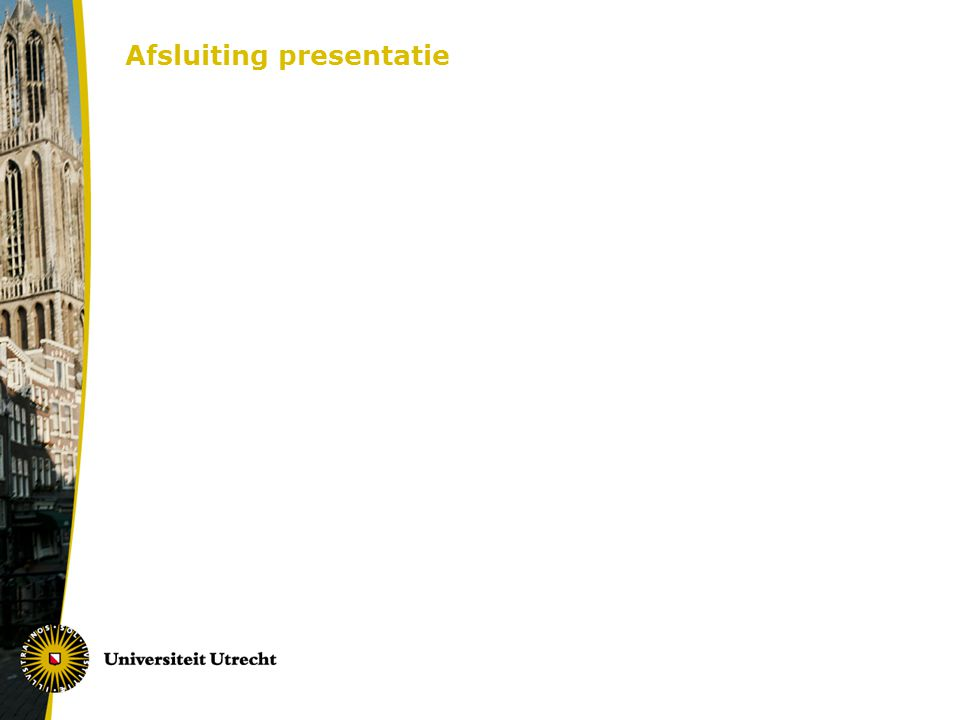 Afsluiting presentatie