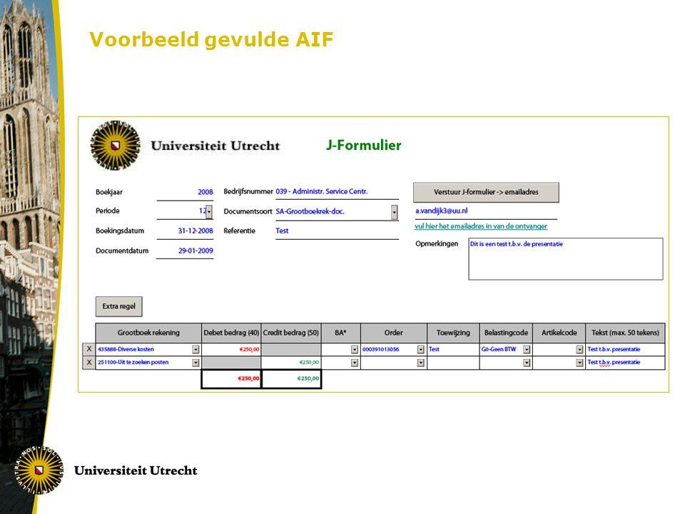 Voorbeeld gevulde AIF