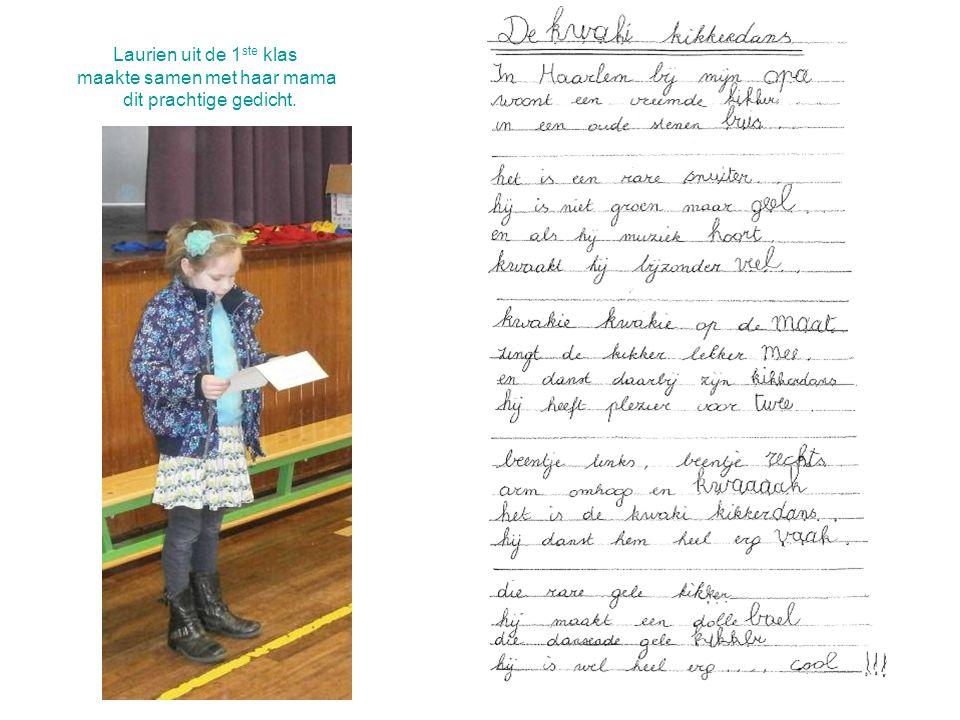 Laurien uit de 1 ste klas maakte samen met haar mama dit prachtige gedicht.