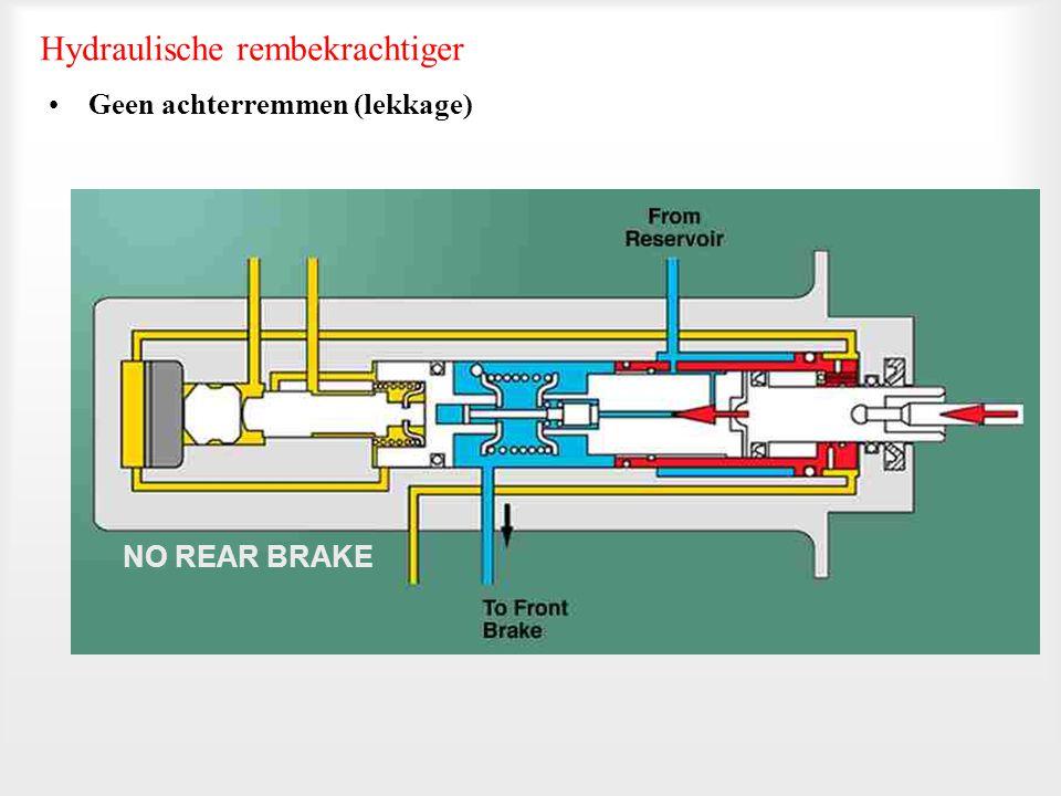 •Ruststand (niet remmen) Hydraulische rembekrachtiger