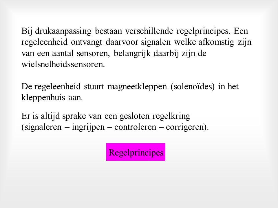 => Drukregeling door volumeverandering * Direct werkend Direct werkend * Indirect werkend Indirect werkend => Drukregeling door drukaanpassing * Open