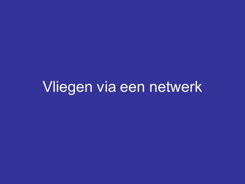 Vliegen via een netwerk