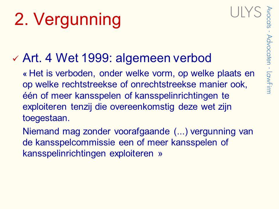 2. Vergunning  Art.