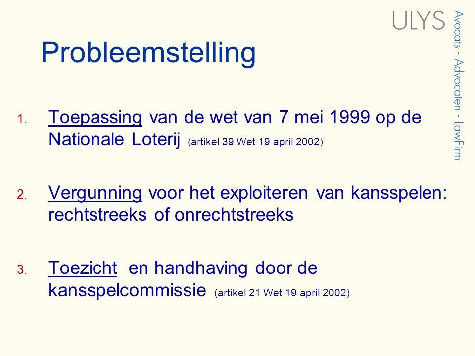 Probleemstelling 1.