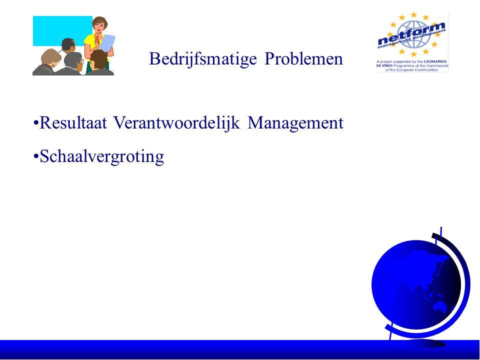 Bedrijfsmatige Problemen •Resultaat Verantwoordelijk Management •Schaalvergroting