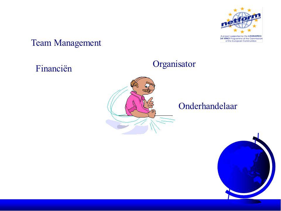 Team Management Financiën Organisator Onderhandelaar