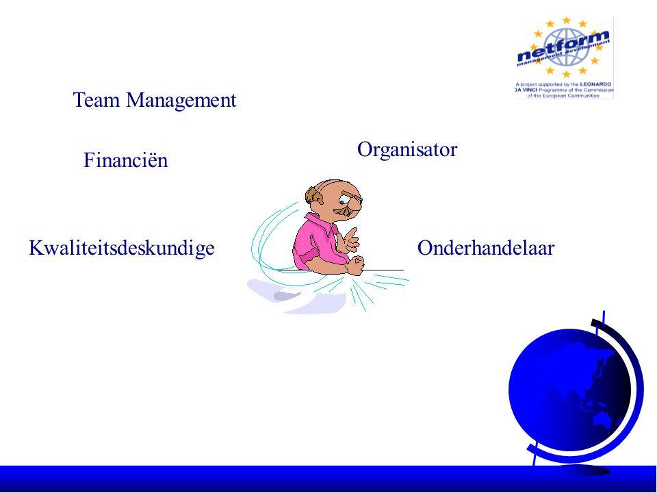 Team Management Financiën Organisator OnderhandelaarKwaliteitsdeskundige