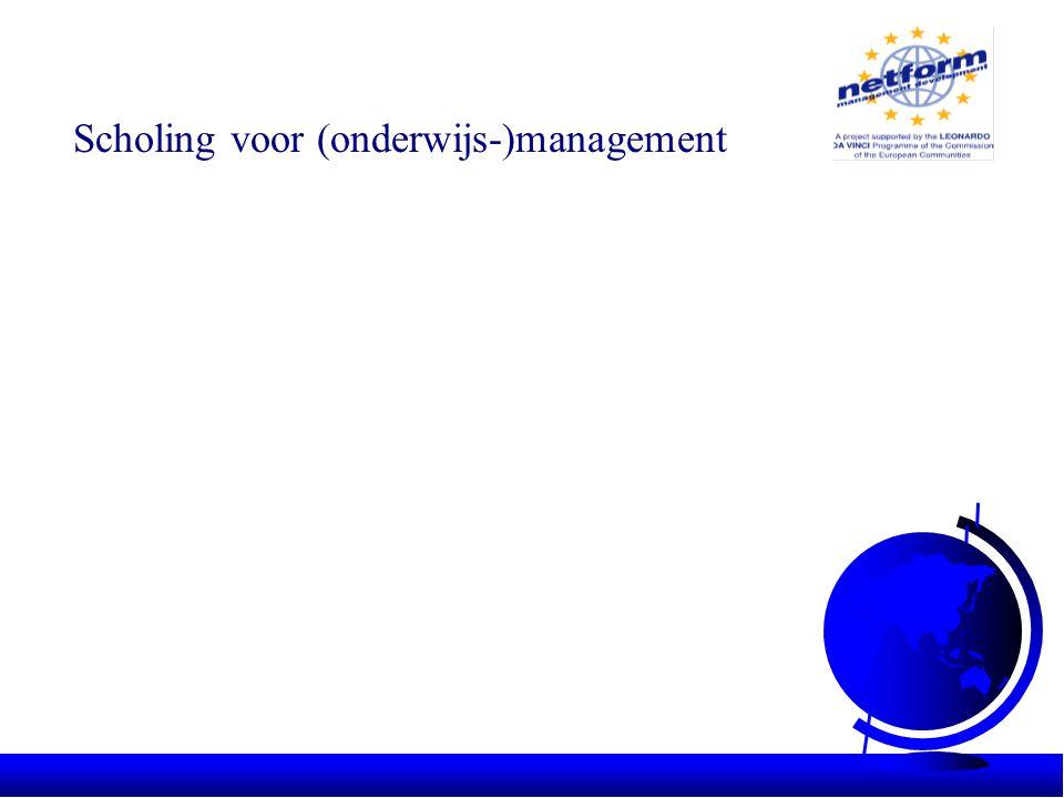 3 modules gereed: •managing a team •managing yourself •planning In voorbereiding: •kwaliteitsmanagement •leiderschap