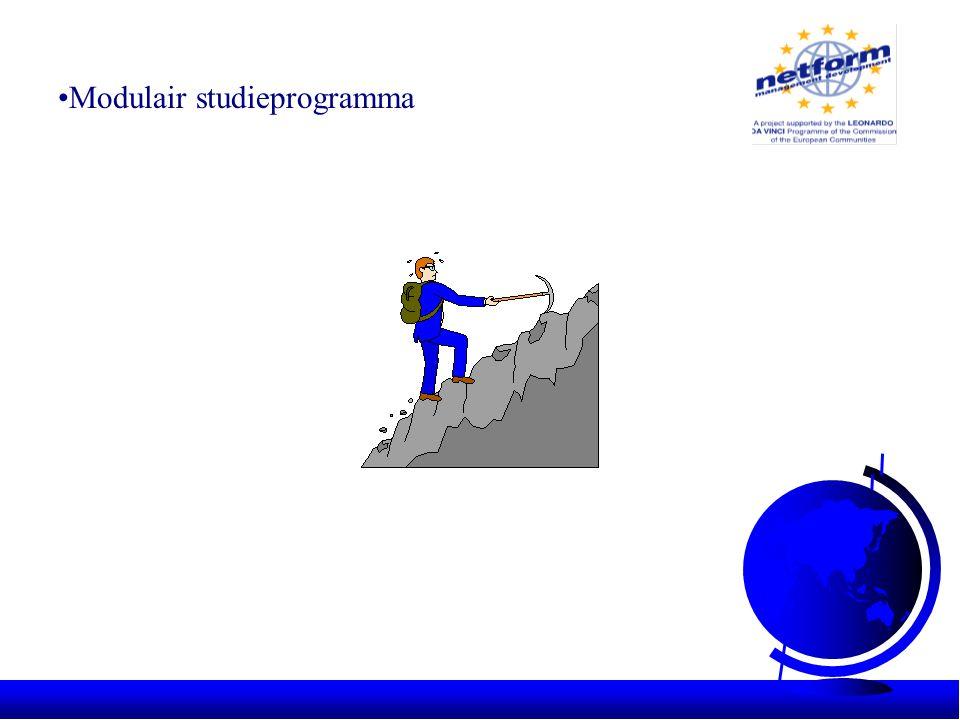 •Modulair studieprogramma