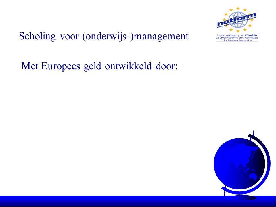 Met Europees geld ontwikkeld door: