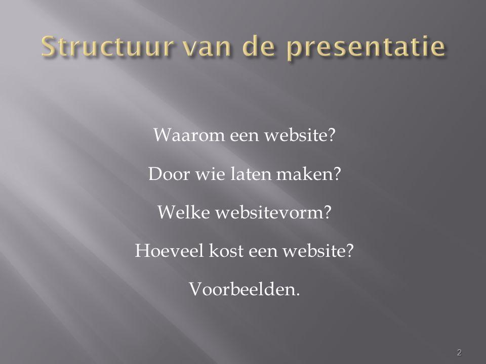 Waarom een website. Door wie laten maken. Welke websitevorm.
