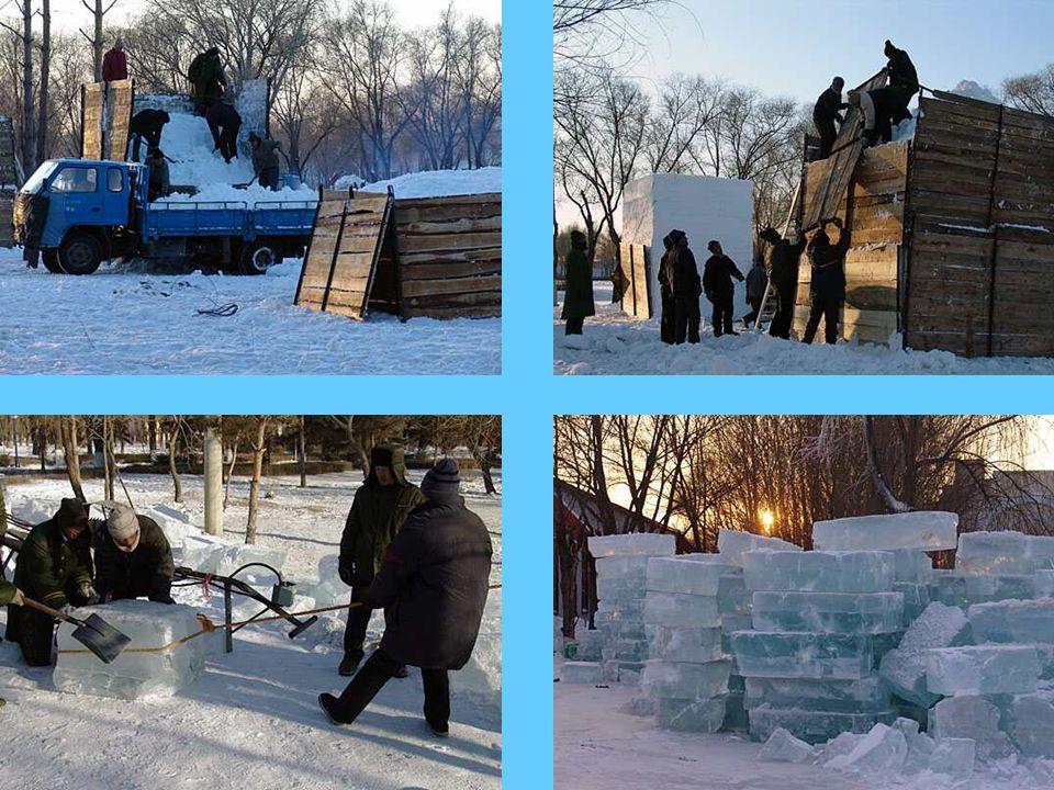 •Het sneeuwfestival is eerder een vertoning van kunst, daar waar het ijsfestival een weerspiegeling is van architectuur.