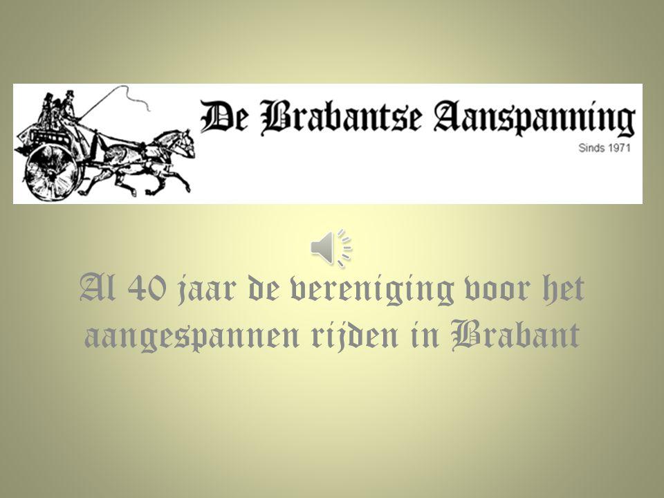 Al 40 jaar de vereniging voor het aangespannen rijden in Brabant