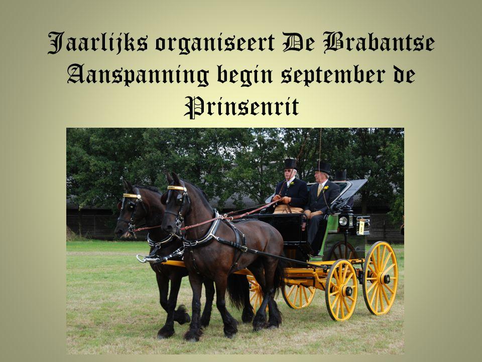 Jaarlijks organiseert De Brabantse Aanspanning begin september de Prinsenrit