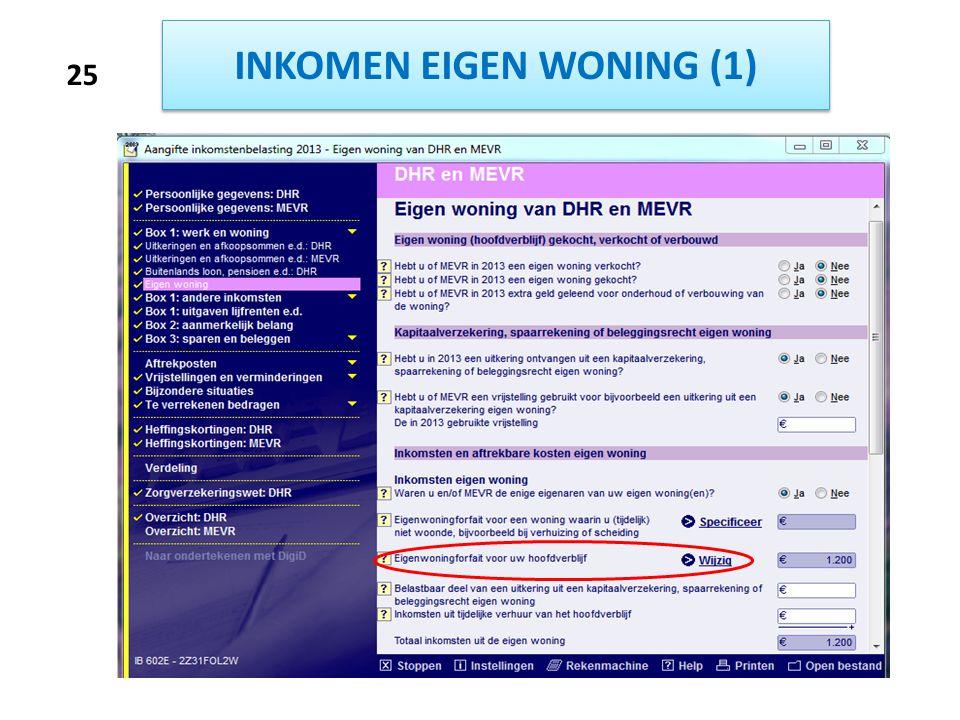 INKOMEN EIGEN WONING (1) 25
