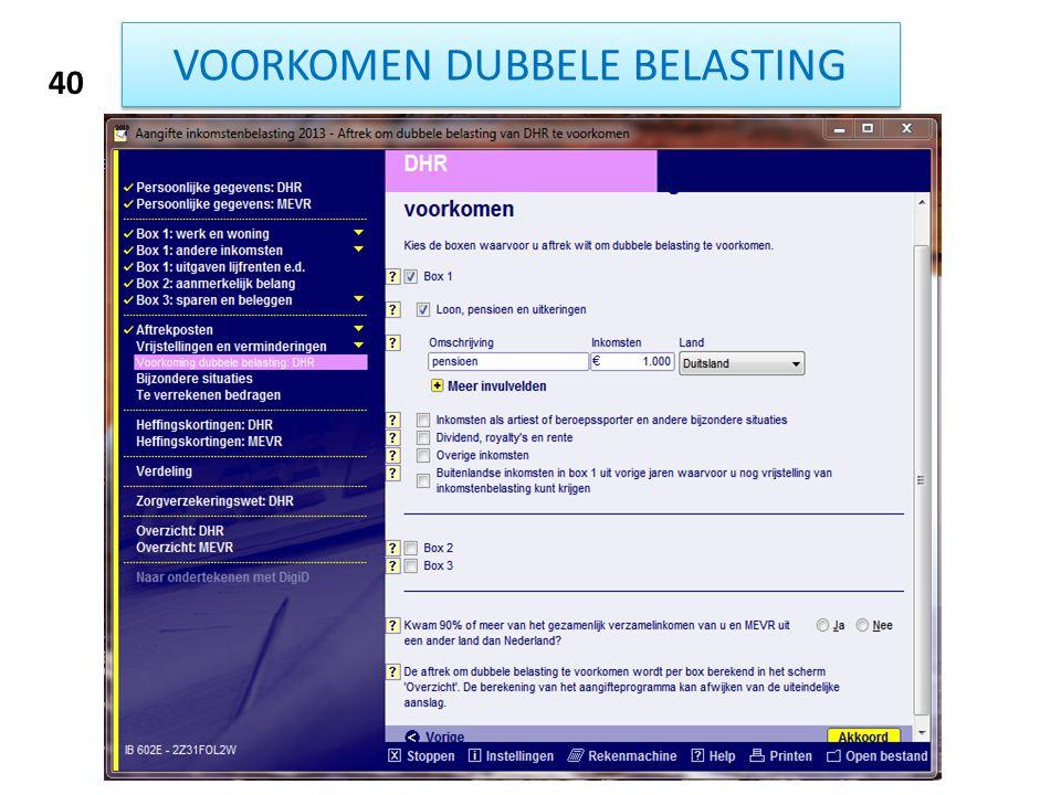VOORKOMEN DUBBELE BELASTING 40