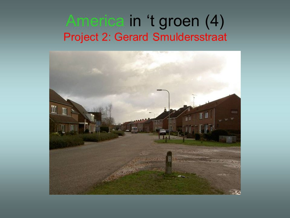 America in 't groen (4) Project 2: Gerard Smuldersstraat