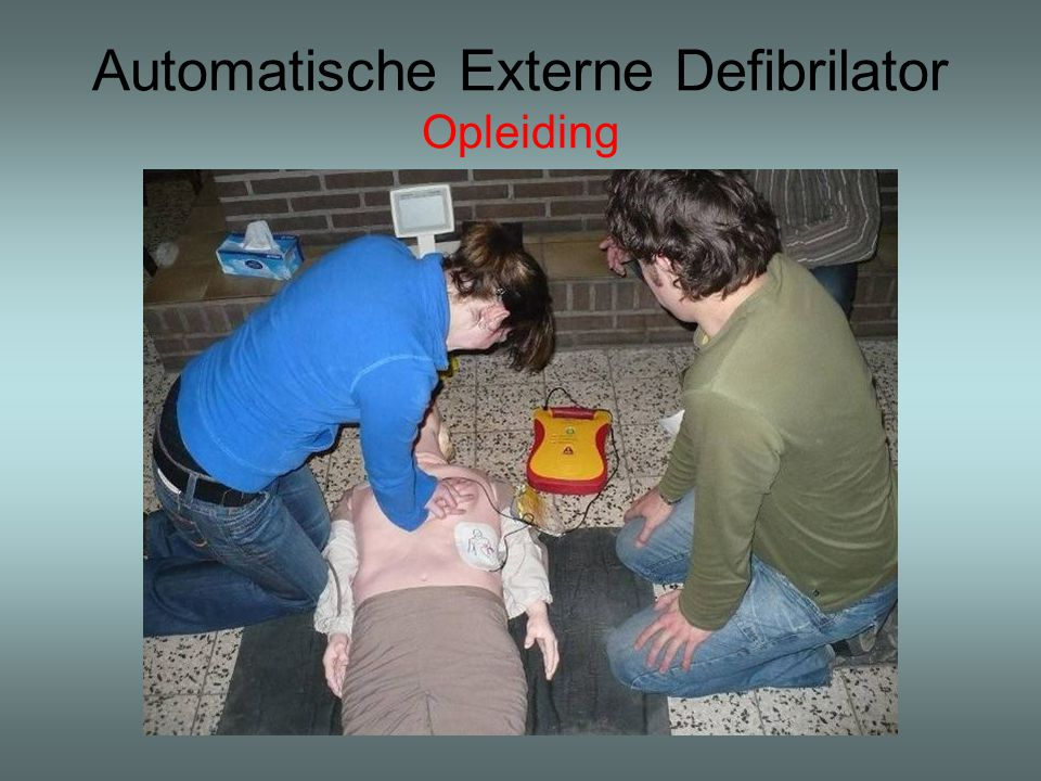 Automatische Externe Defibrilator Opleiding