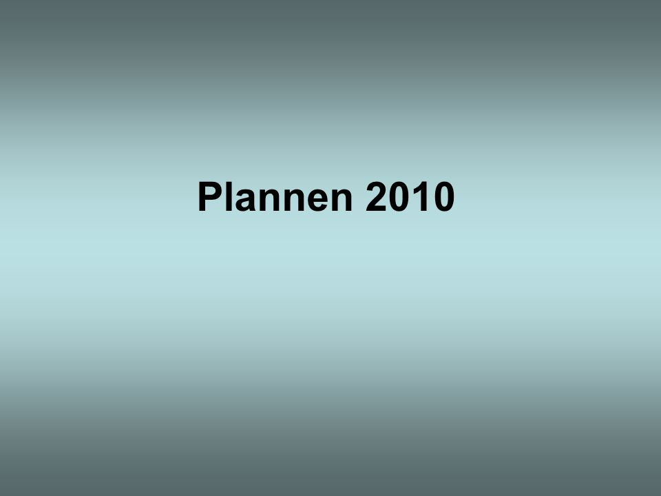 Plannen 2010