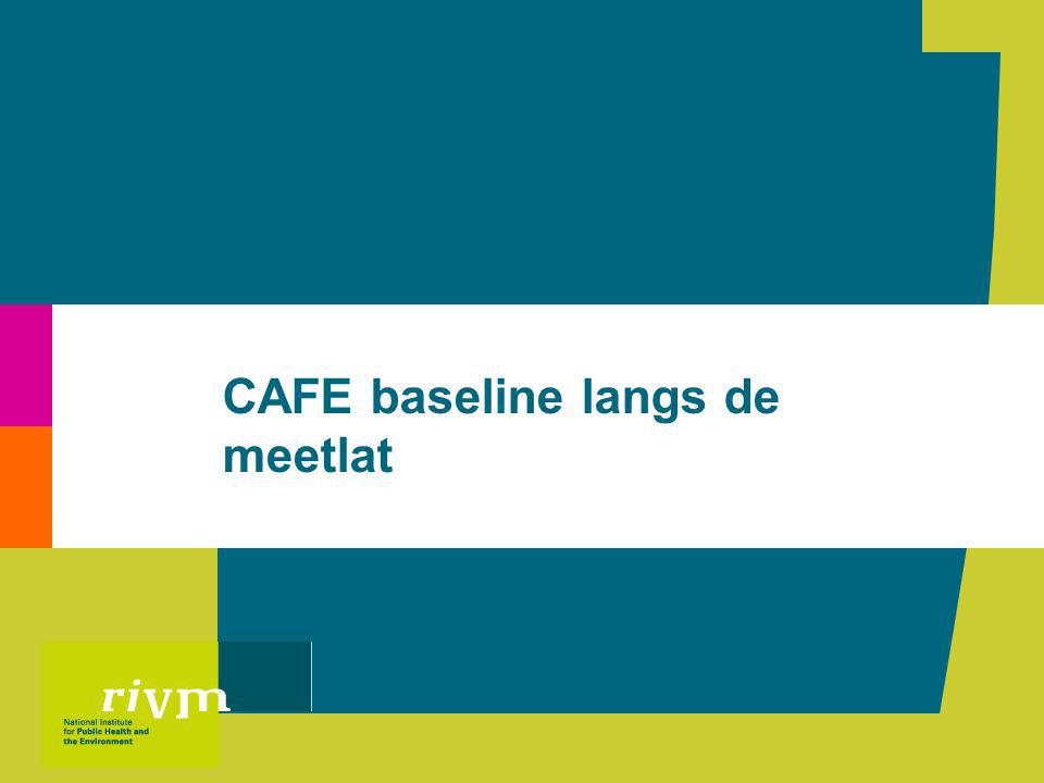 CAFE baseline langs de meetlat | Rob Folkert12 Verschil in SO 2