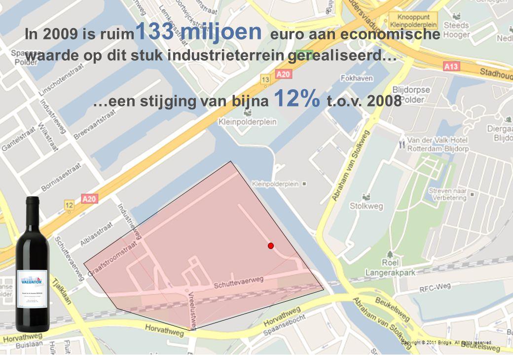 11 In 2009 is ruim 133 miljoen euro aan economische waarde op dit stuk industrieterrein gerealiseerd… …een stijging van bijna 12% t.o.v.
