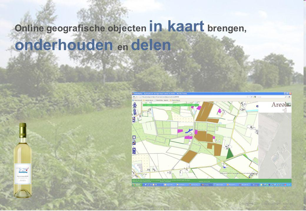 16 Copyright © 2011 Bridgis. All rights reserved. Online geografische objecten in kaart brengen, onderhouden en delen