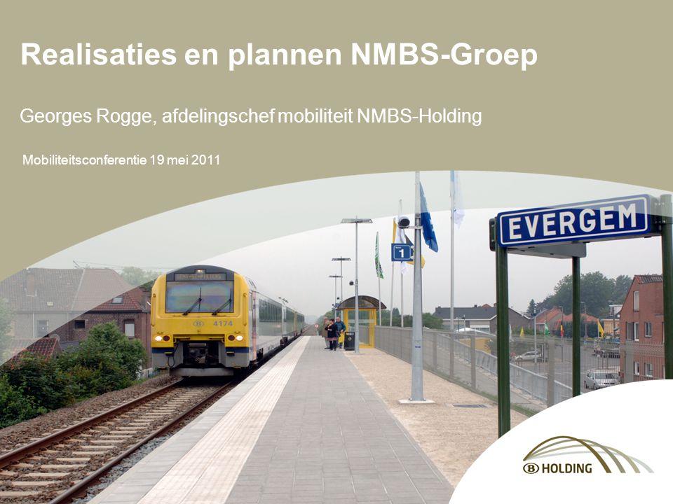Mobiliteitsconferentie 19 mei 2011 Realisaties en plannen NMBS-Groep Georges Rogge, afdelingschef mobiliteit NMBS-Holding
