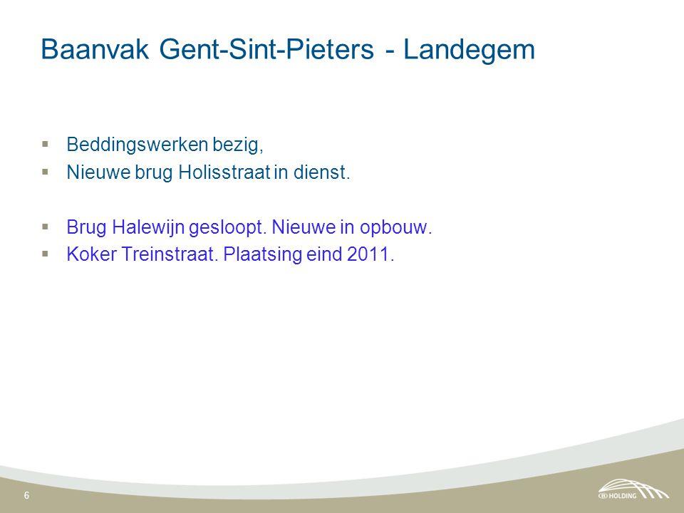 7 Baanvak Landegem - Aalter  Afschaffing OW 21, Grote Heirenthoek, door koker voor voetgangers en fietsers.