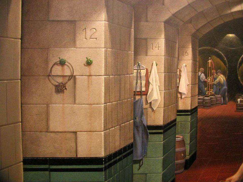 """Je kan het niet geloven maar al wat je ziet zijn vlakke muren ook de handdoek en de schorten van """"Millers"""" brouwerij. Het verleden ontmoet het heden i"""