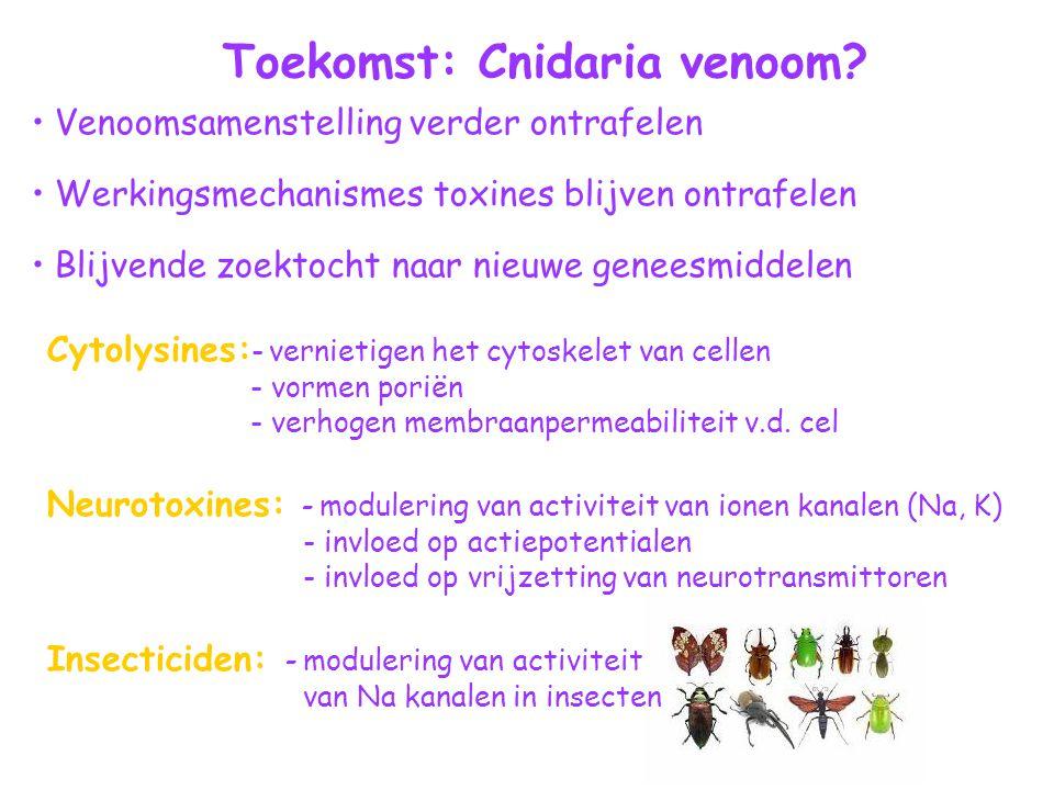 Toekomst: Cnidaria venoom.