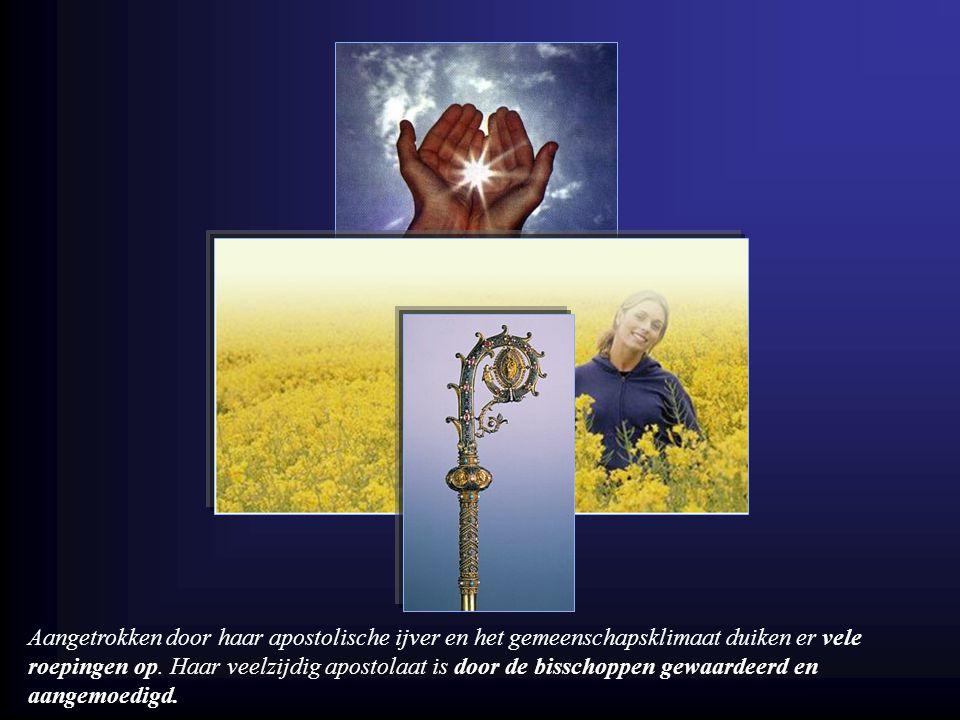 Zij heeft als opdracht nieuwe gemeenschappen te stichten en heilige zusters te vormen.