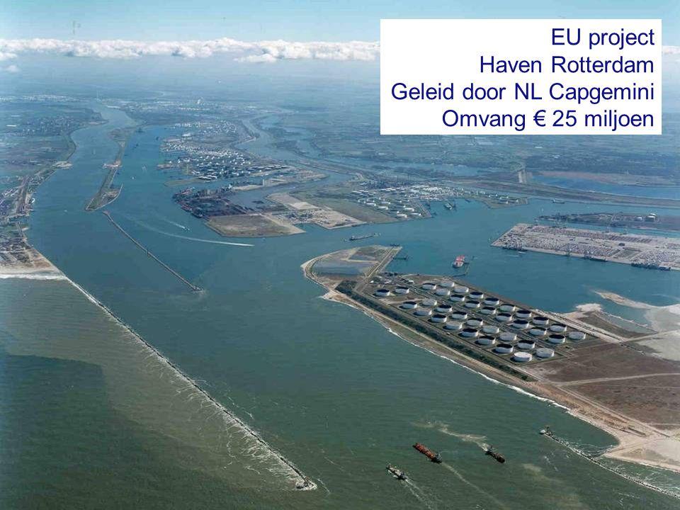 22 EU project Haven Rotterdam Geleid door NL Capgemini Omvang € 25 miljoen