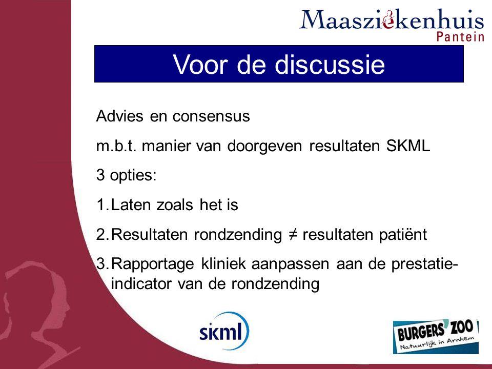 Voor de discussie Advies en consensus m.b.t.