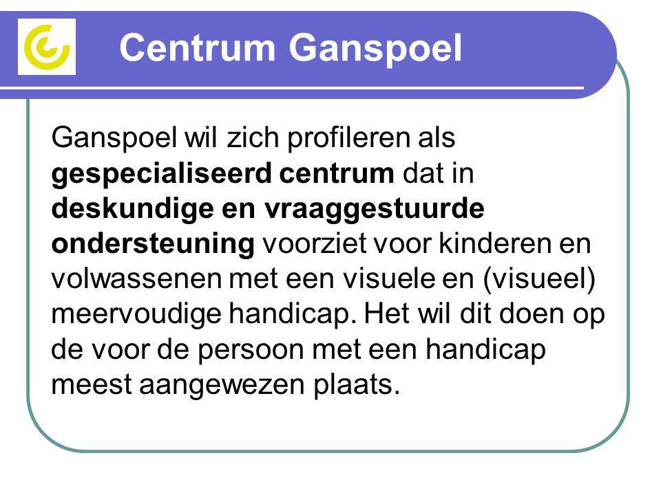 Centrum Ganspoel Ganspoel wil zich profileren als gespecialiseerd centrum dat in deskundige en vraaggestuurde ondersteuning voorziet voor kinderen en