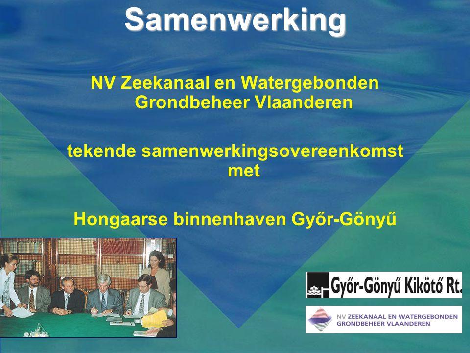 Samenwerking NV Zeekanaal en Watergebonden Grondbeheer Vlaanderen tekende samenwerkingsovereenkomst met Hongaarse binnenhaven Győr-Gönyű