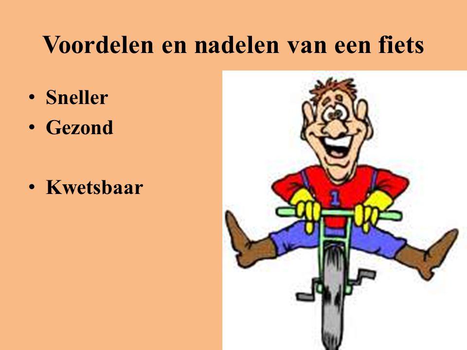 Voordelen en nadelen van een fiets • Sneller • Gezond • Kwetsbaar