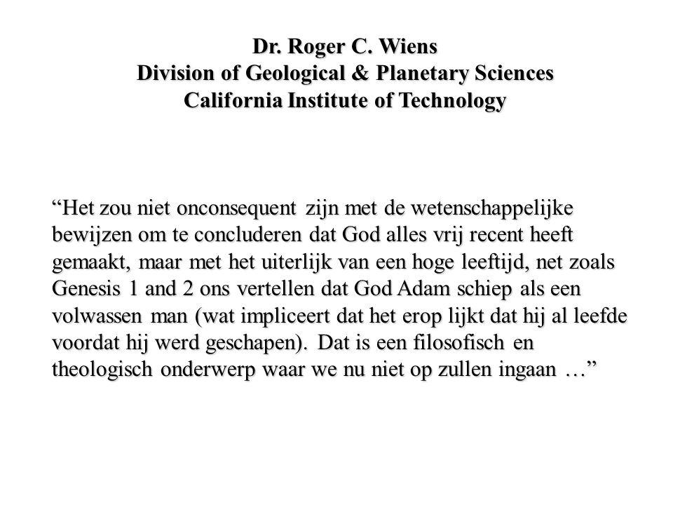 """""""Het zou niet onconsequent zijn met de wetenschappelijke bewijzen om te concluderen dat God alles vrij recent heeft gemaakt, maar met het uiterlijk va"""
