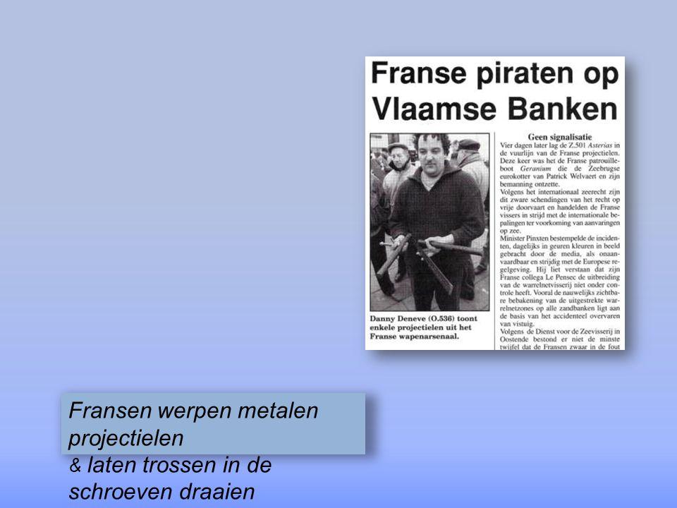 buiten de Franse limieten strijden Duinkerkse & Oostendse kustvissers, die in de winter daar vissen omdat er op de kust niets is te vangen