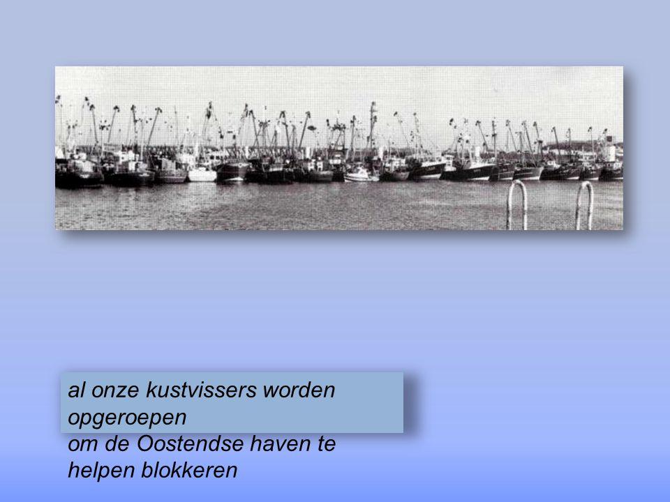 de Vlaamse Vissersbond met een kluitje in het riet gestuurd zal met een havenblokkade reageren