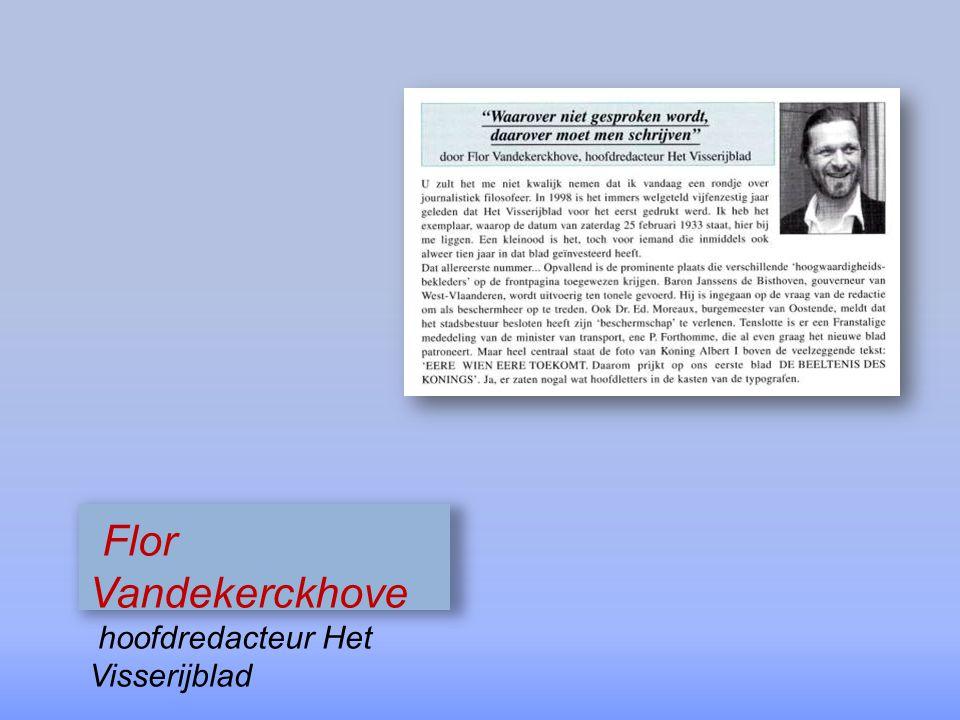 Flor Vandekerckhove hoofdredacteur Het Visserijblad