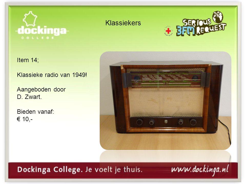 Klassiekers Item 14; Klassieke radio van 1949! Aangeboden door D. Zwart. Bieden vanaf: € 10,-