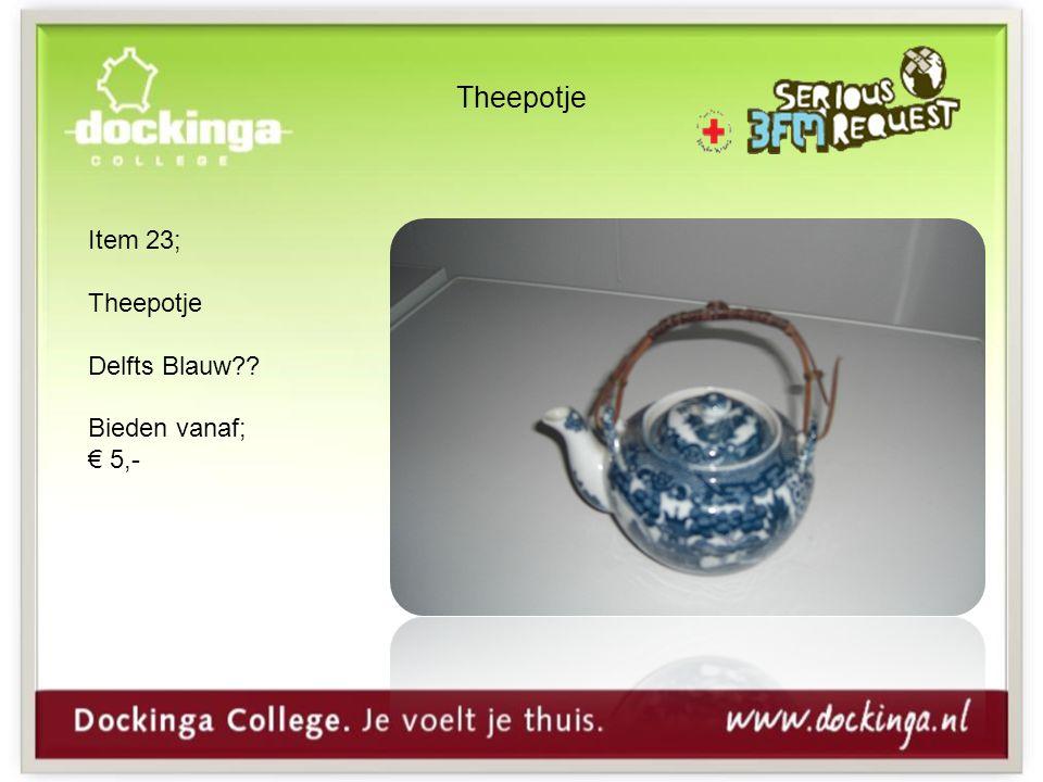 Theepotje Item 23; Theepotje Delfts Blauw Bieden vanaf; € 5,-